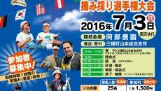 じゅんさい摘み採り大会2016